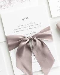 Aurora Ribbon Wedding Invitations Ribbon Wedding