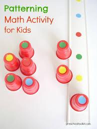 Patterning Stunning Patterning With Colorful Dots Preschool Math Activity Preschool