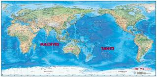 tahiti vs maldives which paradise destination should you go to? Where Is Tahiti On The Map compart_world_physical_pacific_centered_lg tahiti on map
