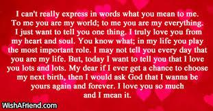 Short Love Letter Short Love Letters