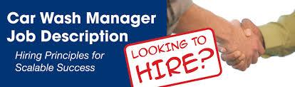 Car Wash Manager Job Decription | Sonny's The Carwash Factory