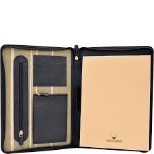 Hidesign Charles Leather Portfolio Padfolio With Handmade Paper