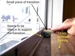 installing laminate flooring transition at sliding glass door