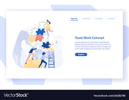 Office Banner Template Web Banner Template With Group Of Tiny Office