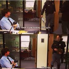 pictures of the office. the one thing that has remained constant in 9 seasons of office jim and dwight pictures r
