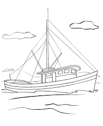 Small Picture BlueBonkers Ships and Boats Coloring pages Fishing boat