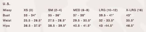 My Size Charts Anne Klein Size Chart