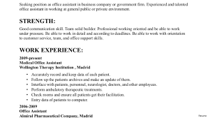 Medical Administrative Assistant Resume Sample Resume Examples Sample Administrative Assistant Duties Job Within 41