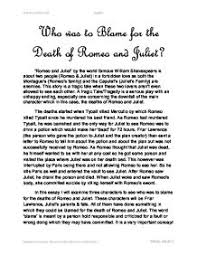 romeo and juliet essay on fate conclusion what is the role of fate in the play romeo and juliet i want to know