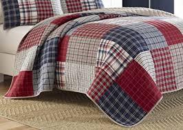 Amazon.com: Nautica Ansell Cotton Pieced Quilt, Full/Queen, Red ... & Nautica Ansell Cotton Pieced Quilt, Full/Queen, Red/Blue Adamdwight.com