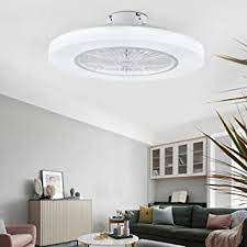 Orillon 22 Thin Modern Ceiling Fan With Light For Indoor Kitchen Bathroom Bedroom Remote Led 3 Color Lighting Low Profile Flush Mount Quiet Electric Fan With 11 Abs Blades And Plastic Cover