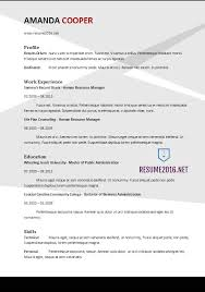 Gallery Of Resume Format 2017 20 Free Word Templates Resume