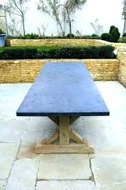 table top hand crafted oak with blue stone tops round bluestone coffee extra large sealer for