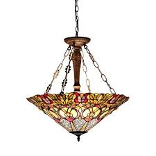 chloe lighting cassandra tiffany style 3 light victorian inverted ceiling
