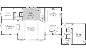 pole barn house floor plans. Barn House Plans: Oyster Shores Level One Floor Plans Pole