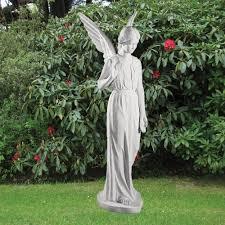 angel garden statue. marble garden statues - angel figurine 183cm religious sculpture statue
