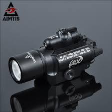 Tactical Shotgun Laser Light Combo Us 69 47 47 Off Aimtis Tac X400 Laser Light Combo Led Weapon Gun Red Laser Flashlight Tactical Handgun Scout Light Rail Mounted For Hunting In