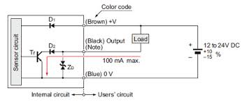 rectangular shaped inductive proximity sensor gx f h i o circuit i o circuit diagram