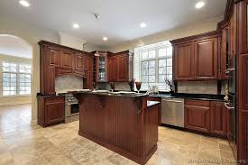 image of kitchen color with cherry cabinets
