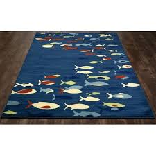 fish area rug fish school navy indoor outdoor area rug ocean themed area rugs
