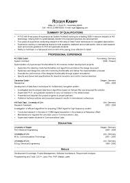 System Architect Resume Template Do 5 Things