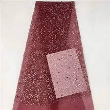 French Tulle <b>lace Fabric African Sequins</b> net lace Glitter Fabric with ...