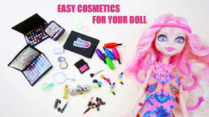 make doll make up shadow blush pact lipstick eye liner mascara perfume nail polish you