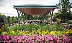 outdoor garden wedding venue in denver botanic gardens colorado