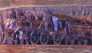 Train Coat Rack Carved Wooden Train Coat Rack 95