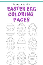 25 Free Printable Easter Egg Templates Easter Egg Coloring Pages