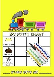 Potty Training Reward Chart Including Star Stickers And Pen