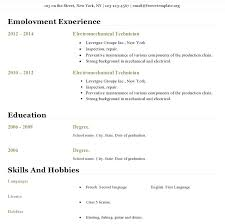Open Office Resume Template Beauteous Resume Templates For Openoffice Resume Template Google Docs