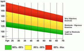 Target Bpm Chart Target Heart Rate Range During Exercise Healthy Heart