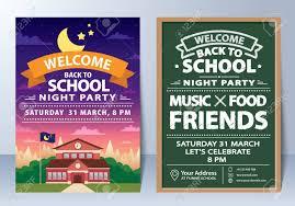 Back To School Invitation Template Invitation Of Back To School Night Party Template Design Royalty