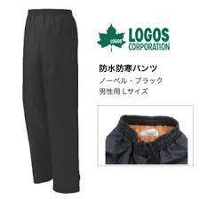 Pants Logos Cowcow Logos Waterproof Winter Pants Black L Nobel Rakuten Global