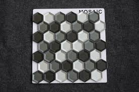 new hexagon 2 inch tile wall decorative glass mosaic