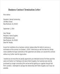 termination letter template business contract termination letter template 32 termination letter