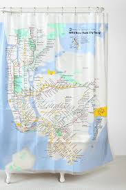 New York City Subway Shower Curtain UrbanOutfitters