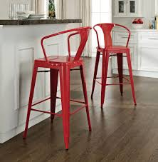 furniture red bar stools why arent you using them in your home aren t the  white kitchen creates perfect ground to place these breakfast uk leather