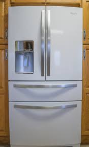 white french door refrigerator. French Door Refrigerator In White Ice. Fridge.jpg