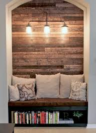 Reading Nook Reading Nook With Wood Plank Wall Wood Plank Walls Planked
