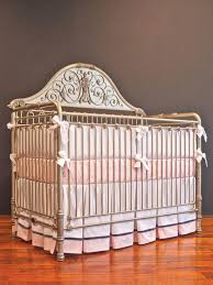 luxury cribs for babies burly wood iron lifetime decor crib with white  ribbon