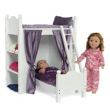 18 Inch Doll Furniture Bunk Bed with Shelves and Ladder fits