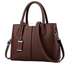 B&E LIFE <b>Stylish Women</b> Pu Leather Vertical Utility Top Handle ...