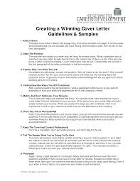 How To Write A Cover Page Custom Guidelines For Writing A Cover Letter And Samples Letters Format