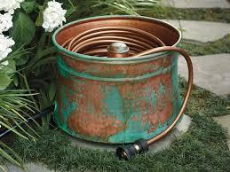 garden hoses. Patina Copper Hose Pot Garden Hoses