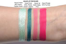cute and mundane make up for ever aqua summer