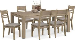 dining room furniture tribeca table and 6 side chairs gray