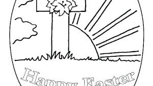 Easter Coloring Pages Cross With Flowers Printable For Adults Online