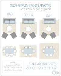 rugs in the bedroom can also be tricky but below we have an easy template to help you with the proper rug size think of your rug as a warm and soft